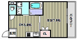 グランビア熊野町東[4階]の間取り