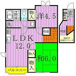 クレストール深井[2階]の間取り