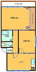 豊島中央ビル[3F号室]の間取り