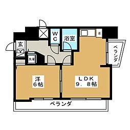ラフィナス新栄[6階]の間取り