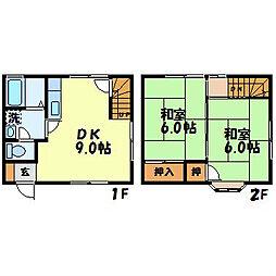[テラスハウス] 長崎県長崎市田上3丁目 の賃貸【長崎県 / 長崎市】の間取り
