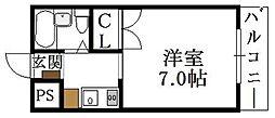 大阪府大阪市東成区深江北3丁目の賃貸マンションの間取り