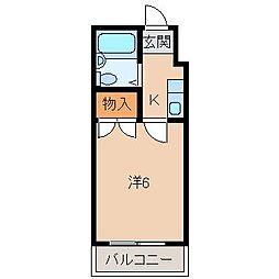レオパレス中松江第3[2階]の間取り