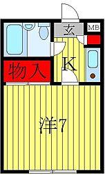オークヒル・ハヤマ[1階]の間取り
