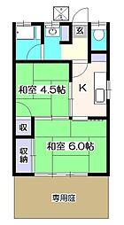 昇コーポ[1階]の間取り