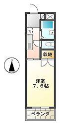 愛知県長久手市長配3の賃貸マンションの間取り