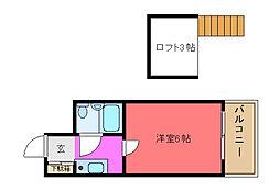 メゾン寺田[102号室]の間取り