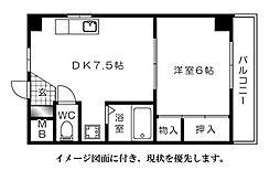 ランドマーク高須[403号室]の間取り