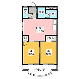 レヂデンス社台[4階]の間取り