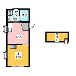 コーポハイフォーレスト[2階]の間取り