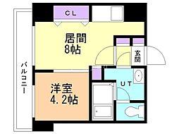 クラークマンションN17 6階1DKの間取り