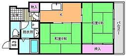 ヴォーンハイム駒川[6階]の間取り