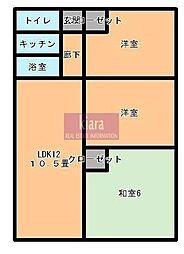 リブゼ横浜南五番館[5階]の間取り