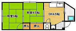 兵庫県神戸市兵庫区和田宮通4丁目の賃貸マンションの間取り