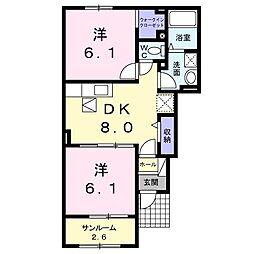 大−2(屋代)[102号室号室]の間取り