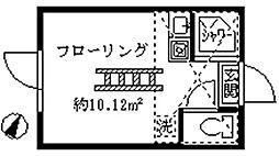 フェリスミラベル[102号室]の間取り