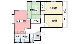 兵庫県西宮市天道町の賃貸アパートの間取り