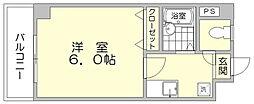 ノーブル美野島[2階]の間取り