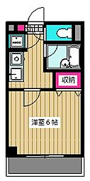 東京都大田区東糀谷3丁目の賃貸マンションの間取り