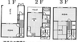 [一戸建] 大阪府大阪市住之江区新北島6丁目 の賃貸【/】の間取り