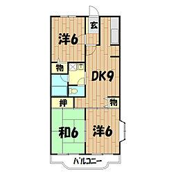 クレール二俣川(本宿町)[2階]の間取り