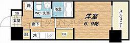 SERENiTE福島scelto 14階1Kの間取り