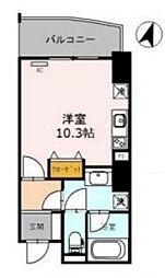 Osaka Metro四つ橋線 西梅田駅 徒歩3分の賃貸マンション 8階1Kの間取り
