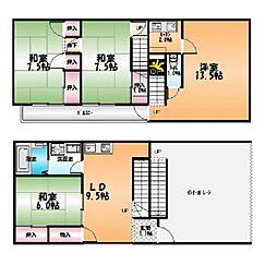 [一戸建] 徳島県徳島市幸町3丁目 の賃貸【/】の間取り