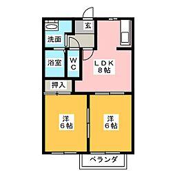 BelleSophiaImaise C棟[2階]の間取り