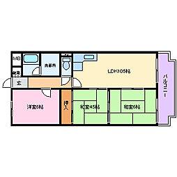 水口マンション[4階]の間取り