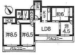 クリオ鎌倉笛田[3階]の間取り