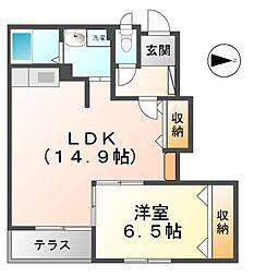 愛知県あま市新居屋高島の賃貸アパートの間取り