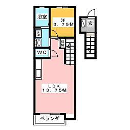テックハウジング9[2階]の間取り