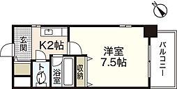 アムール祇園新橋[5階]の間取り
