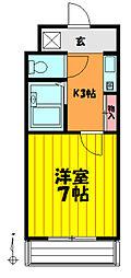埼玉県草加市草加1の賃貸マンションの間取り