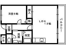 マスターズエル綾園20[5階]の間取り