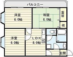 パークスクエア[5階]の間取り