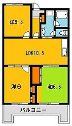 753マンション[503号室]の間取り