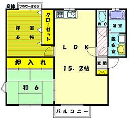 メロディビューラー2 B[1階]の間取り