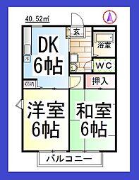 神奈川県大和市中央林間2丁目の賃貸マンションの間取り