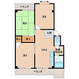 第2マンション岡本[3階]の間取り