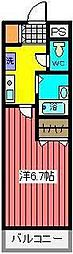 埼玉県川口市幸町2丁目の賃貸マンションの間取り