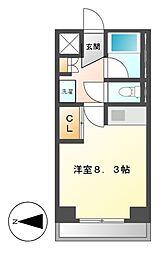 クラージュ 474[3階]の間取り