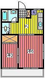 浦和マンション[2階]の間取り