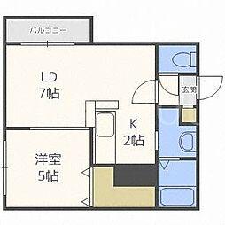 北海道札幌市豊平区福住一条1丁目の賃貸マンションの間取り