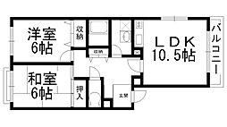 ハイツ西井III[0302号室]の間取り