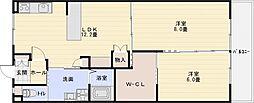 第3コーポ平野[1階]の間取り