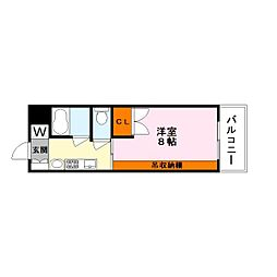 都市ガスコーポ吉井[1階]の間取り