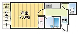 大宝長田ルグラン[2階]の間取り