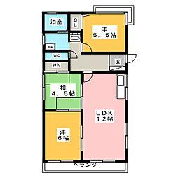 佐藤マンション(西棟)[3階]の間取り
